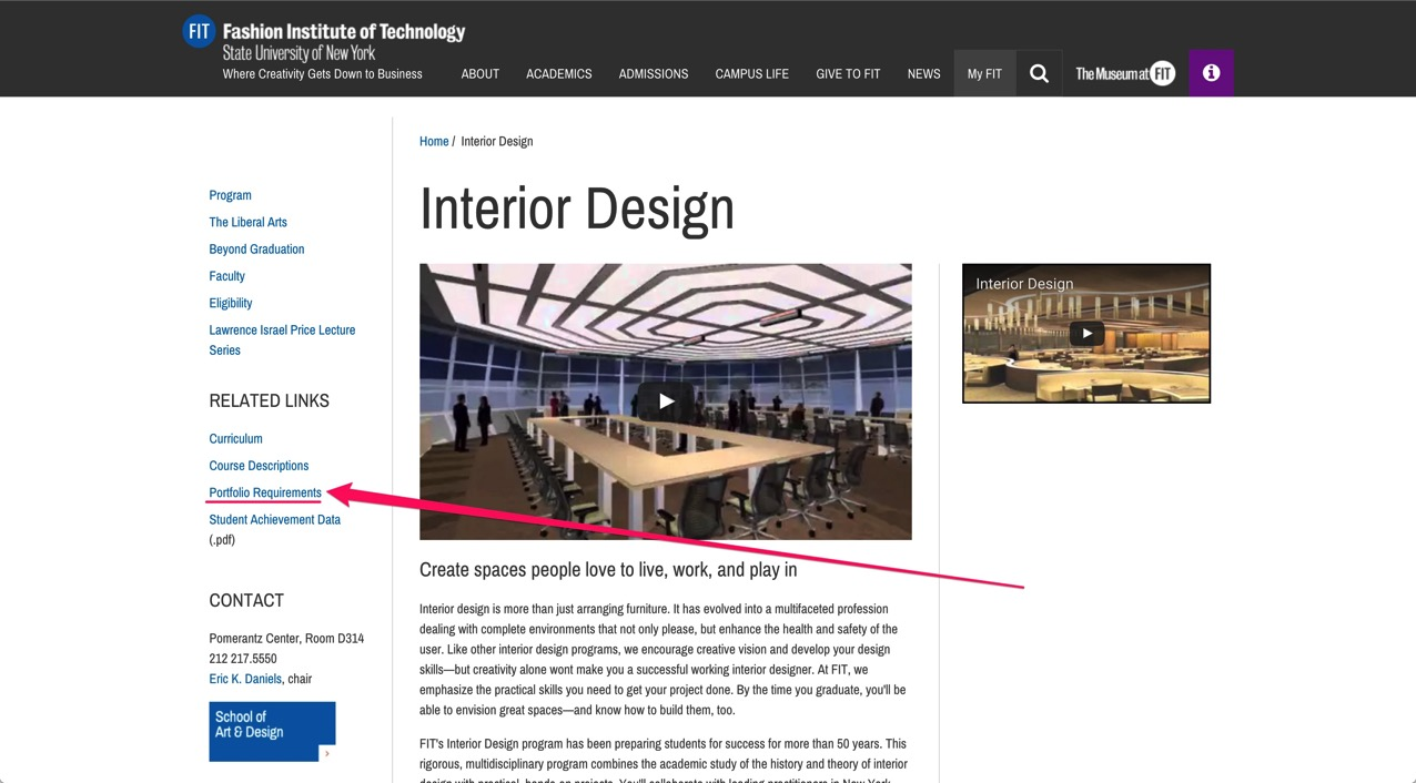 Interior Design Fashion Institute of Technology