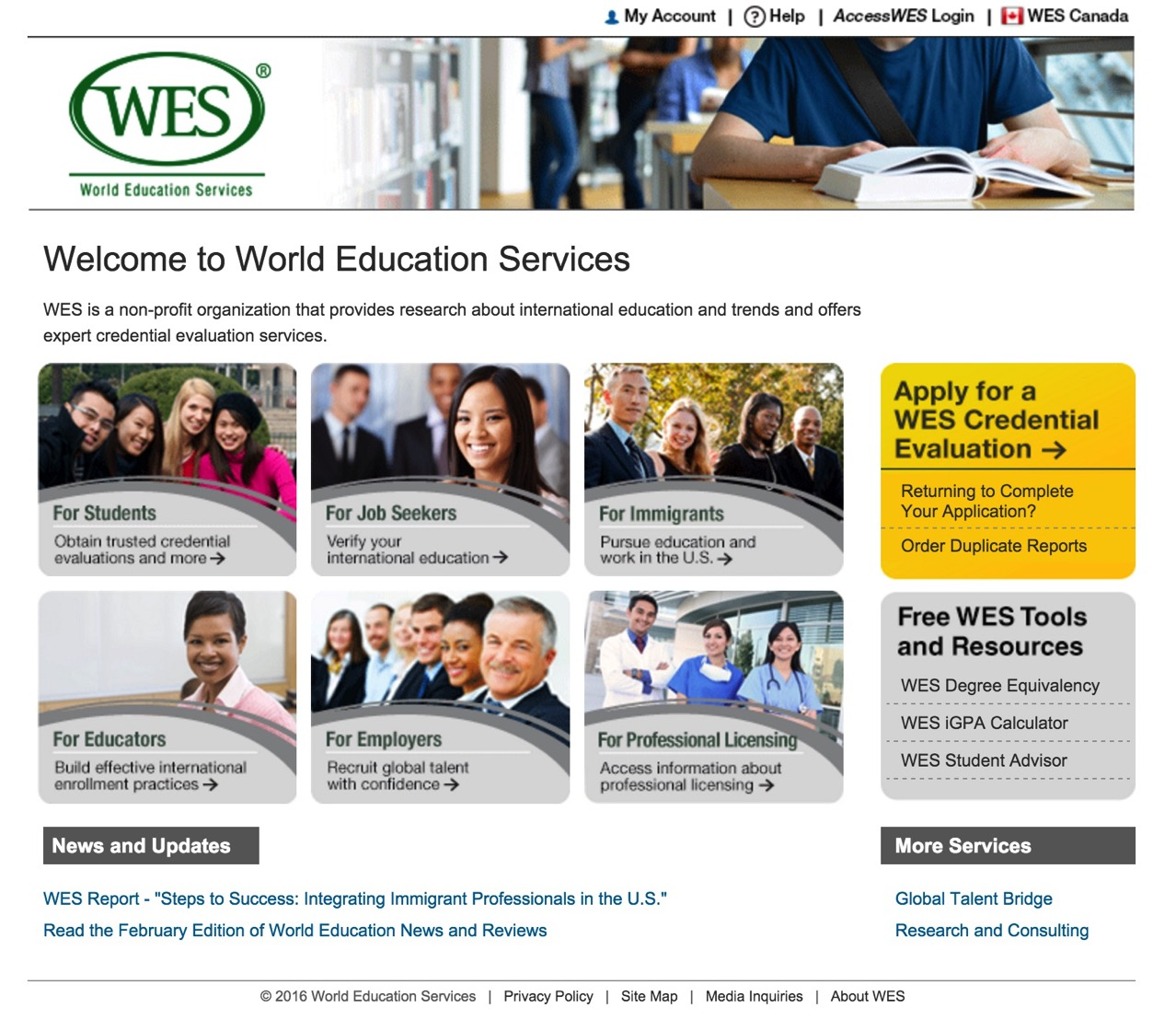 International Credential Evaluation World Education Services