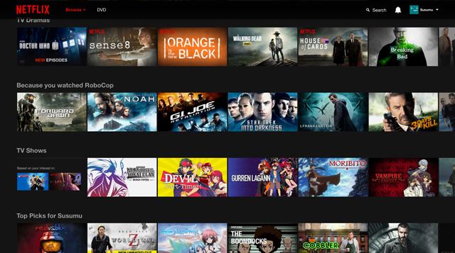 Netflix lineup