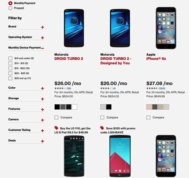 Smartphones Verizon Wireless